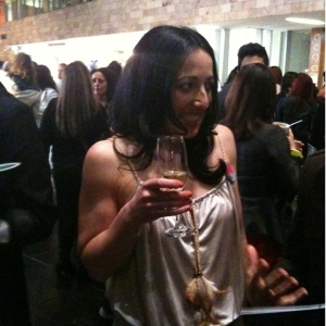 Fluoro Editor Nancy Bugeja enjoying her champers